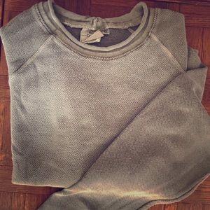 Waffle Knit Sage Sweatshirt/Pullover